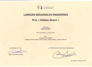 Prix langues endogènes
